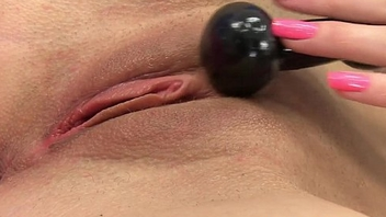 Horny bitch jargon get fitted of her sex toys