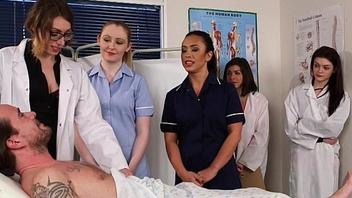 CFNM nurses cocksucking patient hither group