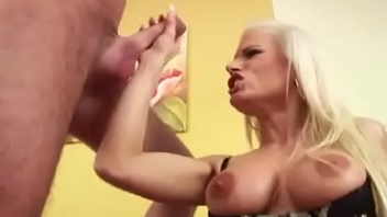Hot Step-Mom in Underthings Need Big Dick of Him and Be wild about