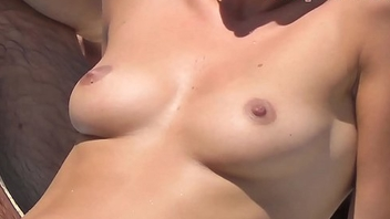 Lovely blonde Topless take it easy