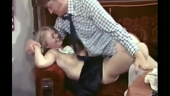Lucky dude fucked by super-hot beauteous maid Anna Magle in vintage porn