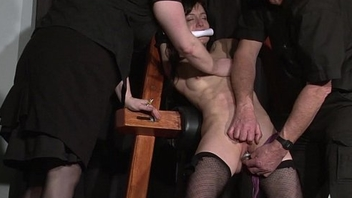 Extreme accompanying Elise Graves tit tormented and electro punished in unchanging double dom