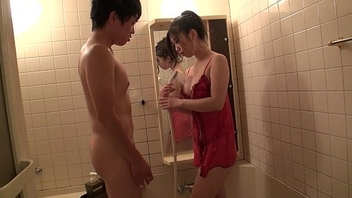 His sexy Asian wife Yuka acquiring her pussy eaten