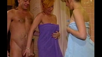 Triplet Ladies' room Lose one's heart to With Sexy Blonde Mature