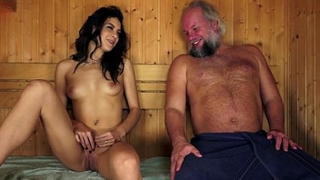 Spanish Carolina Abril swell up off old cock eats ass with an increment of fucked
