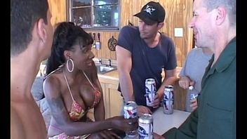Busty Kelly Star gets anal gangbanged apart from four massive redneck cocks