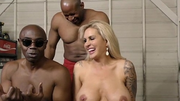 Big Tit MILF Double Penetrated by Black Knobs